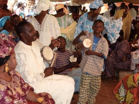 Mali. Playing at a sumu (wedding party) in Bamako