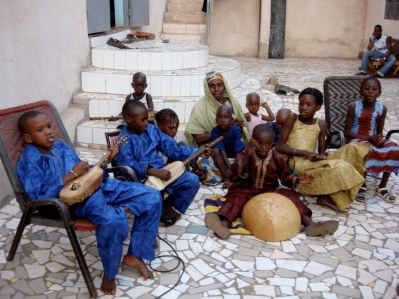 Mali. Kids from the family of Bassekou Kouyaté in Bamako
