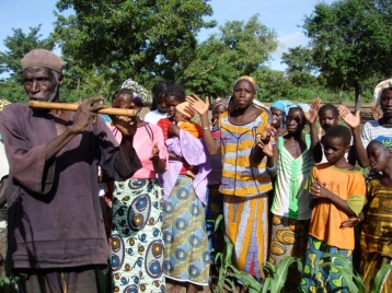 Mali. A Sansene (sowing ceremony) in the village of Golobladji