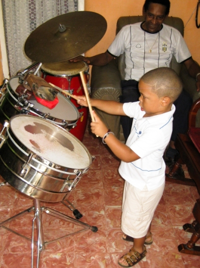 Cuba. Kevin Pérez Álvarez, the grandson of Adalberto Álvarez of the leading salsa group Adalberto Álvarez y su Son