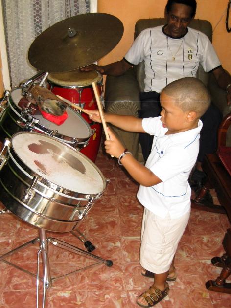 Cuba. Kevin Pérez Álvarez, the grandson of Adalberto Álvarez of the leading salsa group Adalberto Álvarez y su Son