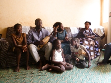 Mali. Rokia Kouyaté and her family