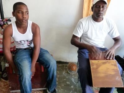 Cuba. Daniel (on the left) from the group Los Güiros de San Cristóbal in Regla
