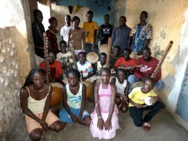 Mali. The youth group Mande kids in Bamako