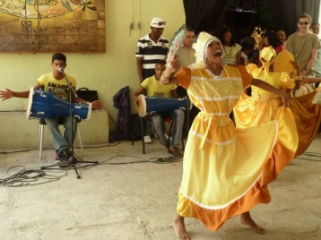 Dance for the Afro-Cuban deity Ochun with the young musicians and dancers from Los Sitios
