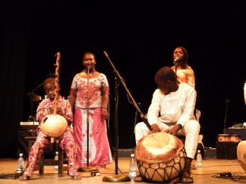 The four Malians on stage in Havana